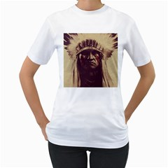 Indian Women s T Shirt (white) (two Sided)