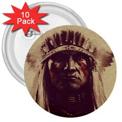 Indian 3  Buttons (10 Pack)
