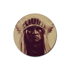 Indian Rubber Round Coaster (4 pack)