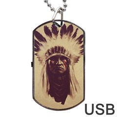 Indian Dog Tag USB Flash (Two Sides)