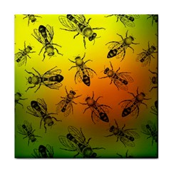 Insect Pattern Tile Coasters
