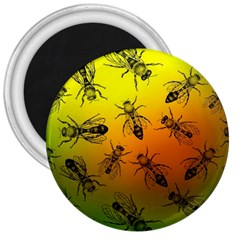 Insect Pattern 3  Magnets