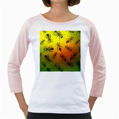 Insect Pattern Girly Raglans