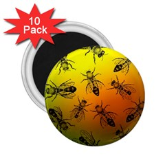 Insect Pattern 2 25  Magnets (10 Pack)