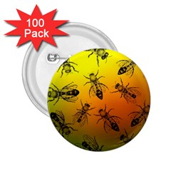 Insect Pattern 2 25  Buttons (100 Pack)