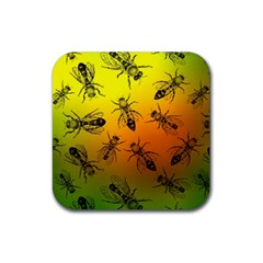 Insect Pattern Rubber Coaster (square)