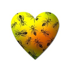 Insect Pattern Heart Magnet