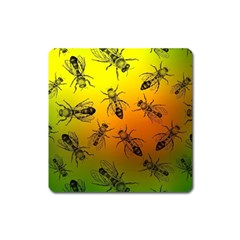Insect Pattern Square Magnet