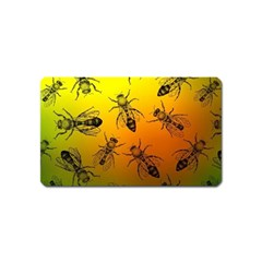 Insect Pattern Magnet (name Card)