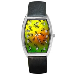 Insect Pattern Barrel Style Metal Watch