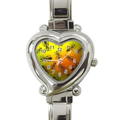 Insect Pattern Heart Italian Charm Watch