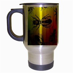 Insect Pattern Travel Mug (Silver Gray)