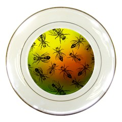 Insect Pattern Porcelain Plates