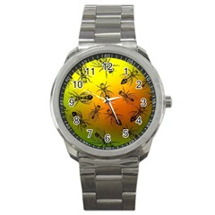 Insect Pattern Sport Metal Watch