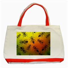 Insect Pattern Classic Tote Bag (Red)