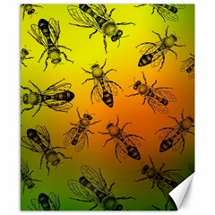 Insect Pattern Canvas 8  X 10