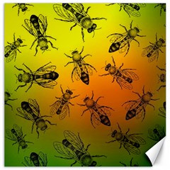 Insect Pattern Canvas 16  x 16