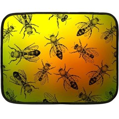 Insect Pattern Double Sided Fleece Blanket (Mini)