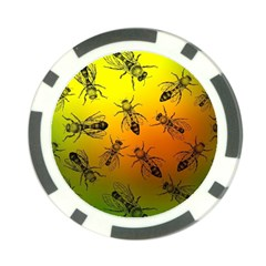 Insect Pattern Poker Chip Card Guard (10 Pack)