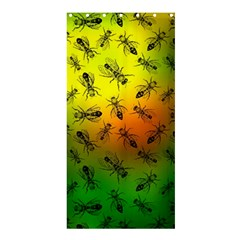 Insect Pattern Shower Curtain 36  x 72  (Stall)
