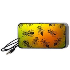 Insect Pattern Portable Speaker (Black)