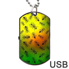 Insect Pattern Dog Tag USB Flash (Two Sides)