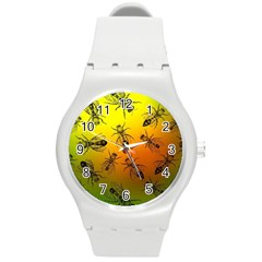 Insect Pattern Round Plastic Sport Watch (M)