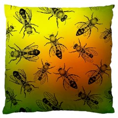 Insect Pattern Large Cushion Case (Two Sides)