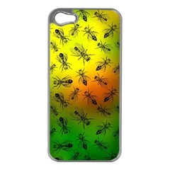 Insect Pattern Apple Iphone 5 Case (silver)