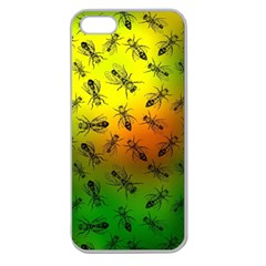 Insect Pattern Apple Seamless iPhone 5 Case (Clear)