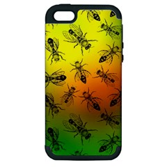 Insect Pattern Apple iPhone 5 Hardshell Case (PC+Silicone)