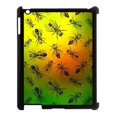 Insect Pattern Apple iPad 3/4 Case (Black)
