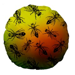 Insect Pattern Large 18  Premium Round Cushions