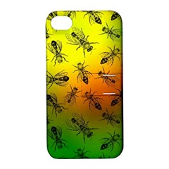 Insect Pattern Apple Iphone 4/4s Hardshell Case With Stand
