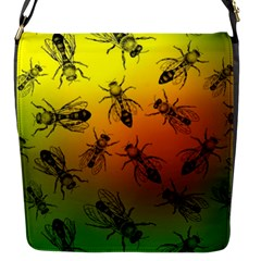 Insect Pattern Flap Messenger Bag (s)