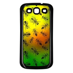 Insect Pattern Samsung Galaxy S3 Back Case (Black)