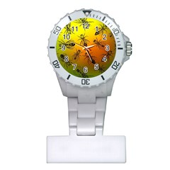Insect Pattern Plastic Nurses Watch
