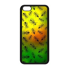 Insect Pattern Apple iPhone 5C Seamless Case (Black)