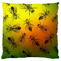 Insect Pattern Large Flano Cushion Case (One Side)