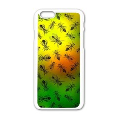 Insect Pattern Apple iPhone 6/6S White Enamel Case