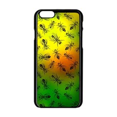 Insect Pattern Apple Iphone 6/6s Black Enamel Case