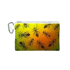 Insect Pattern Canvas Cosmetic Bag (S)