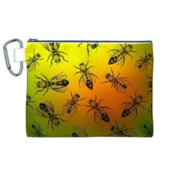 Insect Pattern Canvas Cosmetic Bag (XL)