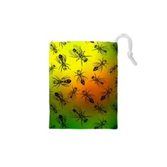 Insect Pattern Drawstring Pouches (XS)