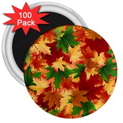 Autumn Leaves 3  Magnets (100 pack)