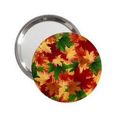 Autumn Leaves 2.25  Handbag Mirrors