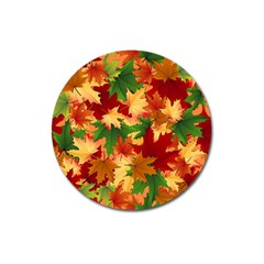 Autumn Leaves Magnet 3  (round)