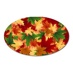 Autumn Leaves Oval Magnet