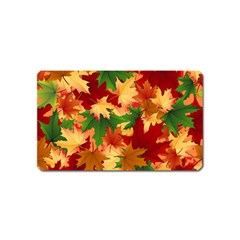 Autumn Leaves Magnet (Name Card)