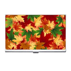 Autumn Leaves Business Card Holders